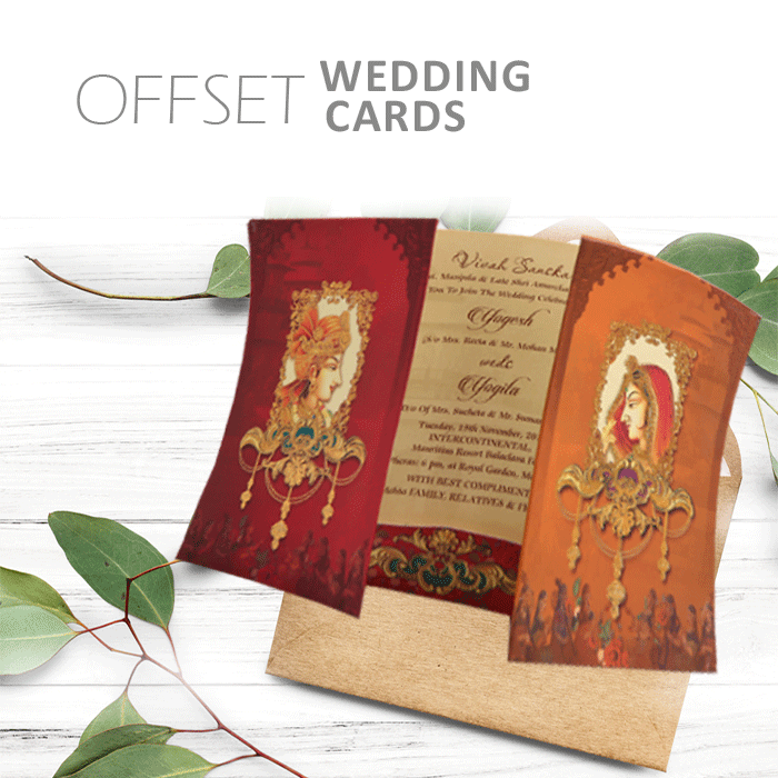 Offset Wedding Cards